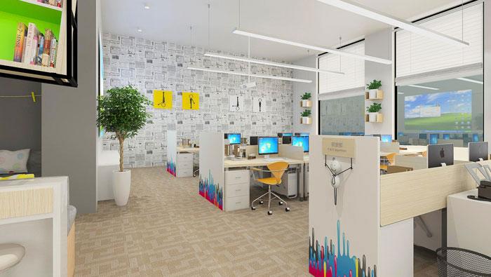 500平方現代簡約風格辦公室裝修設計案例