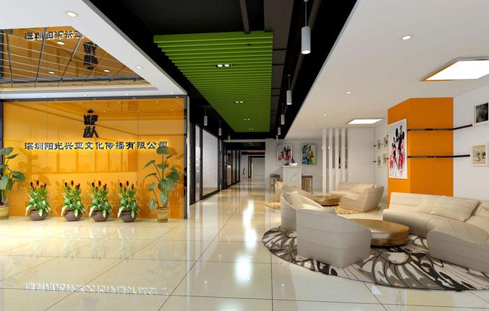 400平方小型辦公室裝修設計案例
