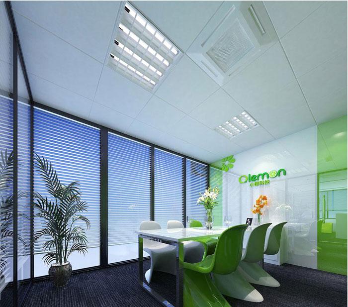 科技公司辦公室洽談室軟裝設計效果圖