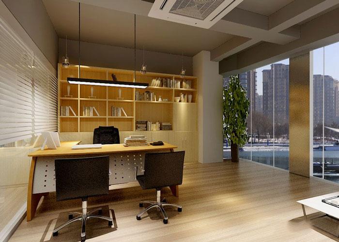 280平方金融公司總經理辦公室軟裝設計效果圖