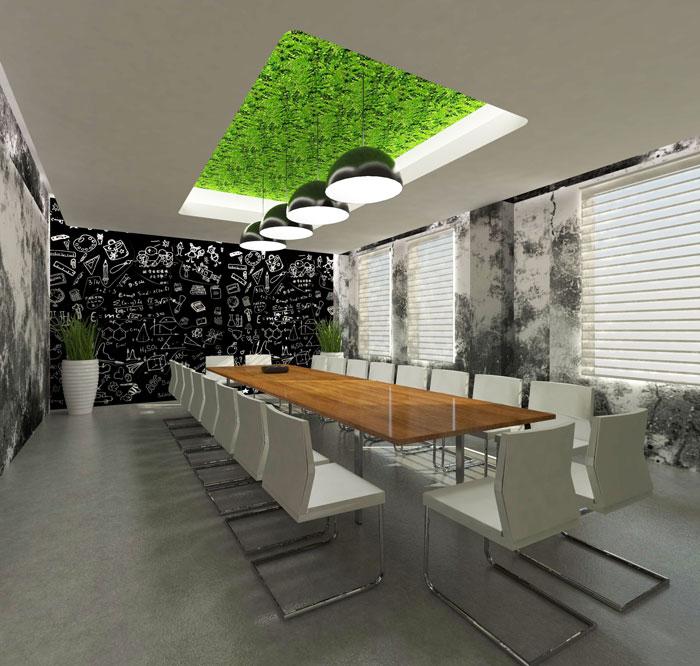 1000平方辦公室會議室軟裝設計方案效果圖