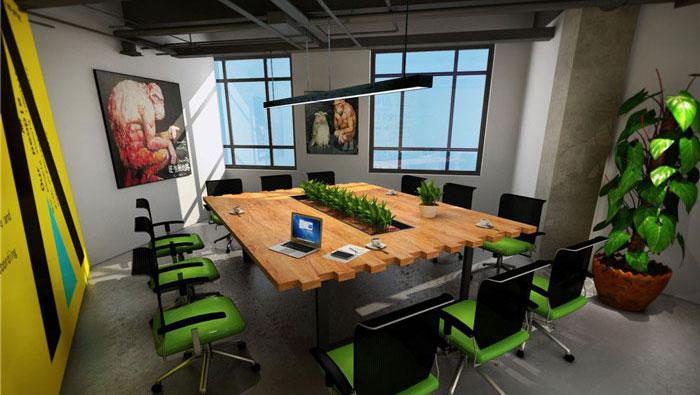 1300平方loft風格辦公室裝修設計案例