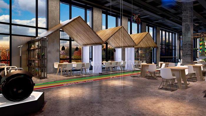 2200平方廠房辦公室裝修設計案例