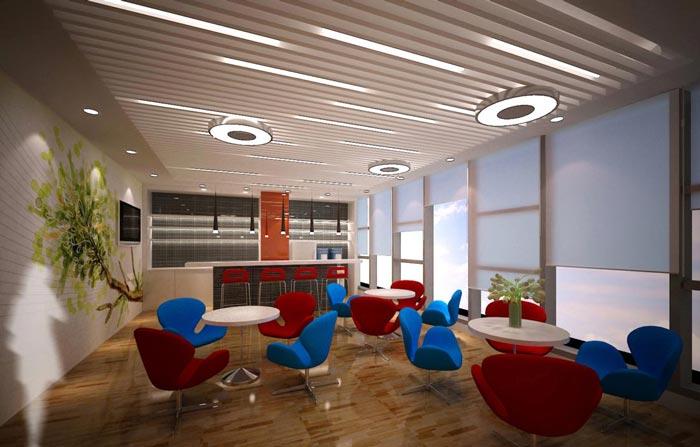 2600平方科技辦公室裝修設計案例