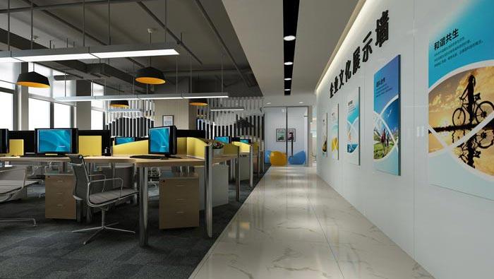 600平方培訓機構辦公室裝修設計案例