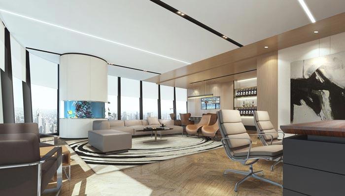 金融保險公司辦公室裝修設計效果圖
