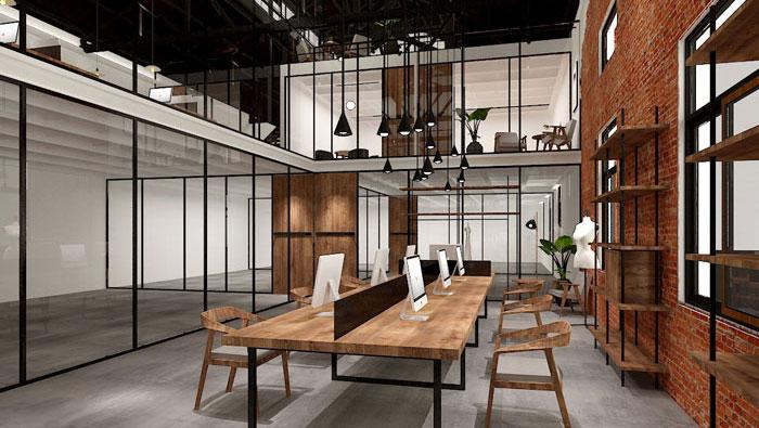 廠房辦公區域裝修設計案例