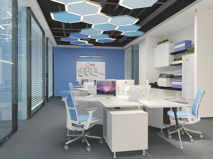生物科技公司辦公室裝修設計案例