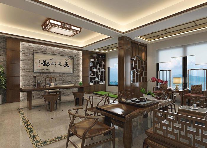 新中式風格辦公室裝修設計案例