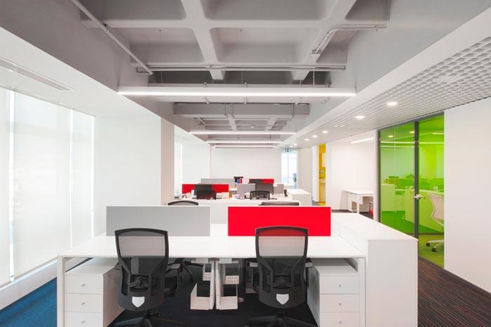開放式辦公室裝修設計實景圖